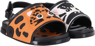 Melissa Colorful Kids Sandals With Zebra And Leopard