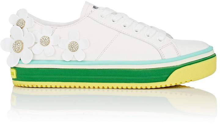 Marc Jacobs Women's Flower-Embellished Leather Sneakers