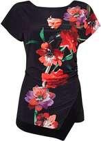 Wallis Black Oriental Floral Top