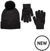 Very Girls 2 Pc Sparkle Hat & Gloves Set