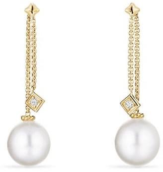 David Yurman Solari Drop Earrings in 18K Yellow Gold with Diamonds