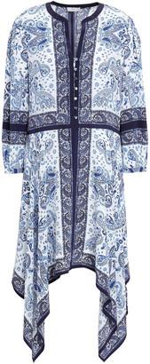 Joie Cyntia Printed Crepe De Chine Dress