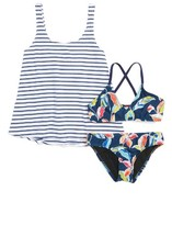 Splendid Girl's Tropical Traveler Three-Piece Swimsuit
