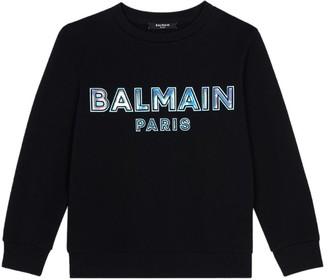 Balmain Kids Holographic Logo Sweatshirt (4-16 Years)