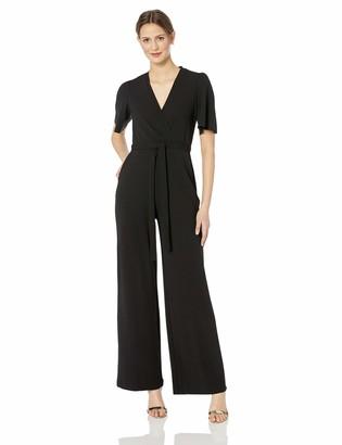 Donna Morgan Women's Faux Wrap Jumpsuit