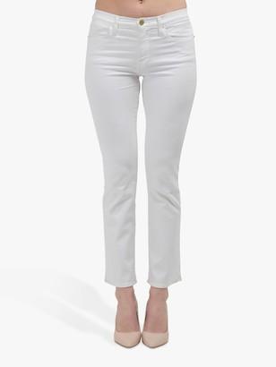 Frame Le High Straight Leg Jeans, Blanc