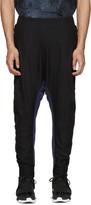 11 By Boris Bidjan Saberi Black and Blue Knit Lounge Pants