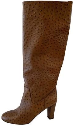 Maliparmi Camel Leather Boots