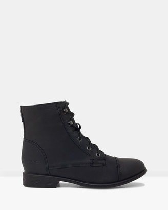 ROC Boots Australia - Women's Black Lace-up Boots - Riff - Size One Size, 38 at The Iconic