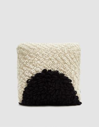 Minna Moon Shag Throw Pillow in Black