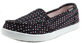 Roxy Rg Lido Iii Youth Round Toe Canvas Black Loafer.