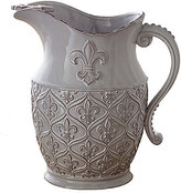 Mud Pie France Collection Fleur de Lis Terracotta Pitcher