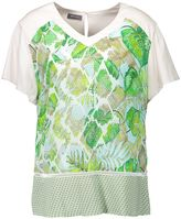 Basler Leaf Print Top