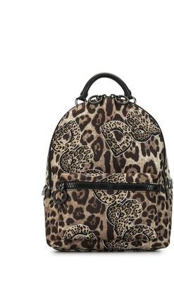 Dolce & Gabbana Leopard Logo Print Backpack