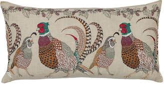 Coral & Tusk Pheasants & Quail 16x32 Lumbar Pillow - Natural Linen