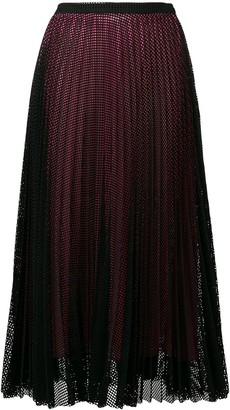 Marco De Vincenzo Mesh Layer Pleated Skirt