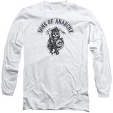 SOA Sons of Anarchy TV Show Bloody Sickle Adult Long Sleeve T-Shirt Tee
