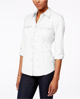 Style&Co. Style & Co. Petite Utility Shirt, Only at Macy's