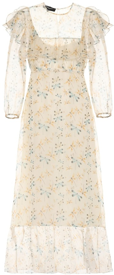 Rochas Floral-printed silk dress