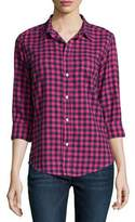 Frank And Eileen Barry Long-Sleeve Check-Print Shirt, Red Multi