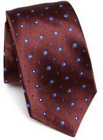 Kiton Circle Patterned Silk Tie
