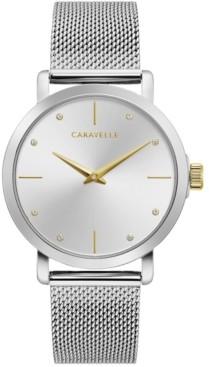 Caravelle Women's Stainless Steel Mesh Bracelet Watch 36mm