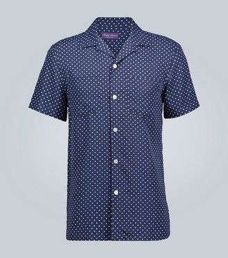 Ralph Lauren Purple Label Polka-dot short-sleeved shirt