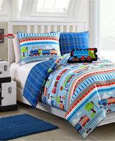 Victoria Classics All Aboard 4-Pc. Reversible Full Comforter Set