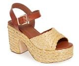 Mia Whitney Raffia Platform Sandal