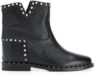 Via Roma 15 Malibu studded ankle boots