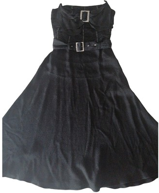 John Galliano Black Synthetic Dresses