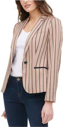 Tommy Hilfiger Striped Elbow Patch Blazer