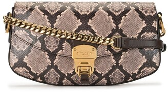 Tod's Snake-Print Cross-Body Bag