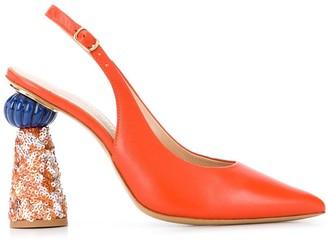Jacquemus Les chaussures Loiza sequinned pumps