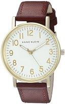 Anne Klein Women's AK/1968WTRD Easy To Read Dial Red Strap Watch