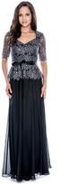Decode 1.8 Sequined Queen Anne Dress 183201