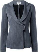Armani Collezioni wrap front blazer - women - Cotton/Polyamide/Polyester/Spandex/Elastane - 40