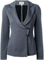 Armani Collezioni wrap front blazer - women - Cotton/Polyamide/Polyester/Spandex/Elastane - 42