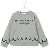 Burberry logo printed sweatshirt