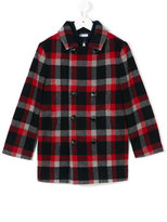 Dolce & Gabbana checked coat - kids - Calf Leather/Polyamide/Polyester/Zamak - 8 yrs