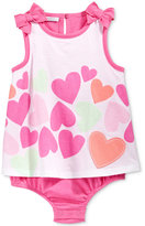 First Impressions Hearts Skirted Sunsuit, Baby Girls, Only at Macy's