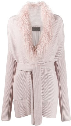 D-Exterior Knitted Cardigan Coat