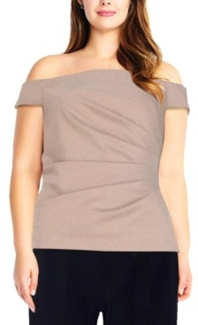 Adrianna Papell Size Off-The-Shoulder Top