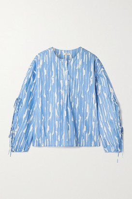 Jason Wu Printed Cotton-poplin Blouse - Blue
