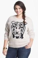 Love By Design Tiger Eyelash Sweater (Juniors Plus)
