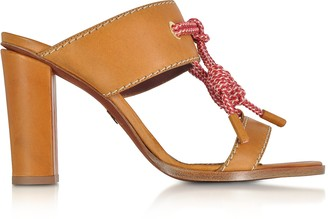 DSQUARED2 Camel Leather High Heel Sandals