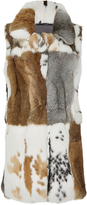 Co Patchwork Fur Vest