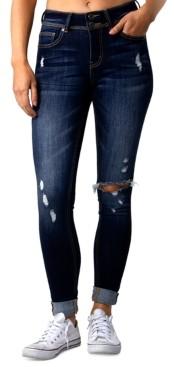 Indigo Rein Indio Rein Juniors' Ripped Cuffed Jeans