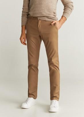 MANGO MAN - Slim fit chino trousers beige - 28 - Men