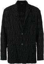 Issey Miyake crinkled jacket - men - Cotton/Linen/Flax - 4